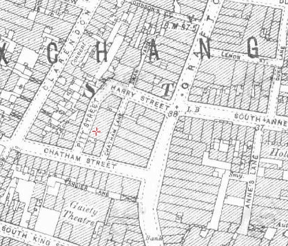 "Pitt St, from the 25"" OSi map (www.osi.ie)"