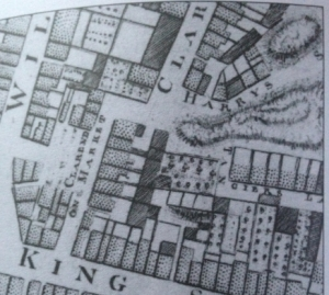 Extract from Roque's map of Dublin City, 1756
