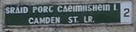 Camden St sign