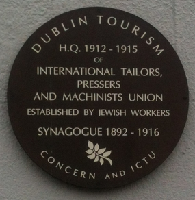 Plaque at junction of Camden Street and formerly Charlotte Street